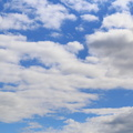 Sky Blue White Clouds 014