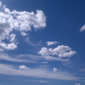 Sky Blue White Clouds 033